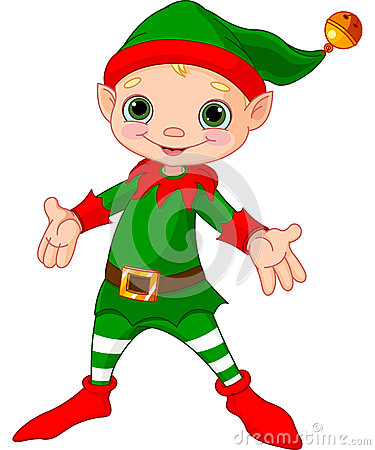 Free Happy Christmas Elf Royalty Free Stock Images - 27685299