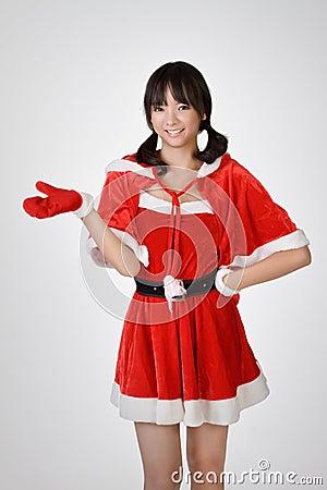 Happy Christmas gir