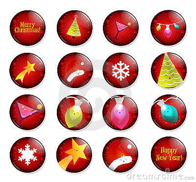 Happy Christmas holiday pins