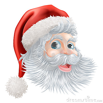 Happy Christmas Santa face