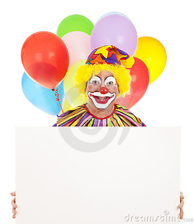 Happy Clown With Message