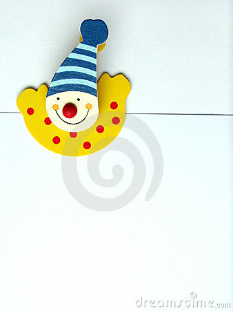 Happy clown paper clip