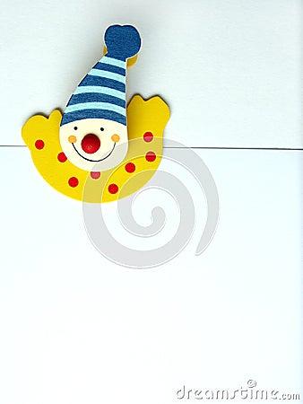 Happy clown paper clip