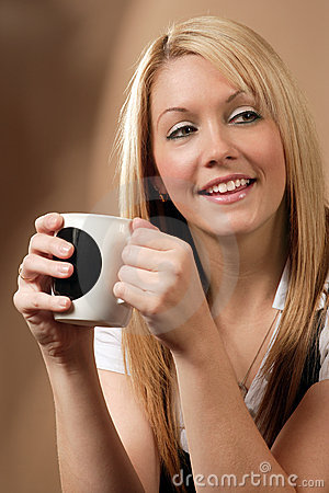 Free Happy Coffee Drinker Royalty Free Stock Photos - 3514048