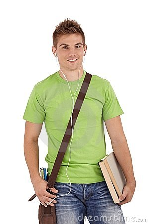 Free Happy College Student Royalty Free Stock Photos - 23993018