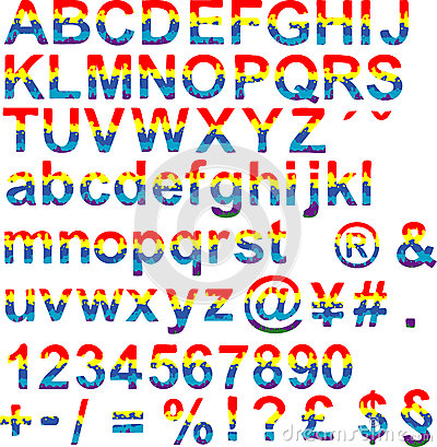 Happy color font