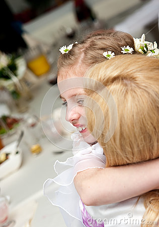 Happy communion girl