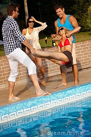 Free Happy Companionship Having Fun At Summertime Royalty Free Stock Photography - 24191727