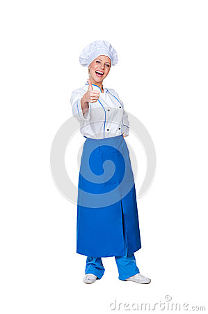 Happy cook showing thumbs up