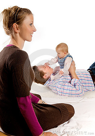 Happy Couple And Baby Royalty Free Stock Photos - Image: 14084068