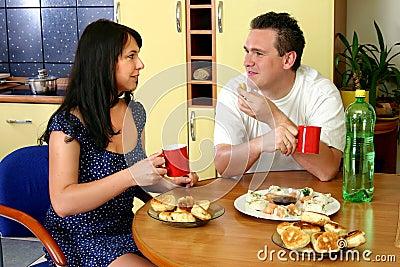 Happy Couple - Breakfast