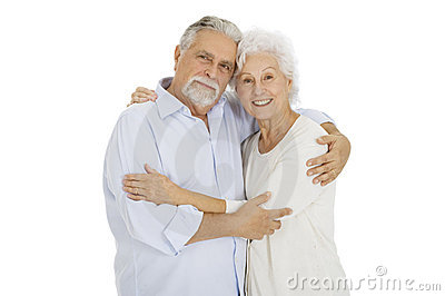 Happy couple of elderly