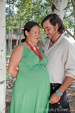 Happy couple expecting a baby