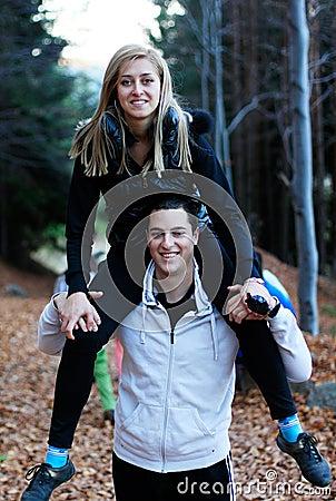 Free Happy Couple Having Fun Stock Photo - 22122680