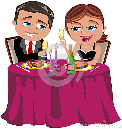 Happy Couple Having Romantic Dinner