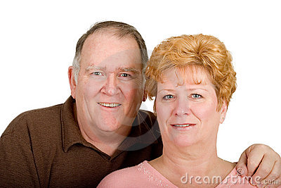 Happy couple with heart