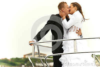 Happy couple kissing