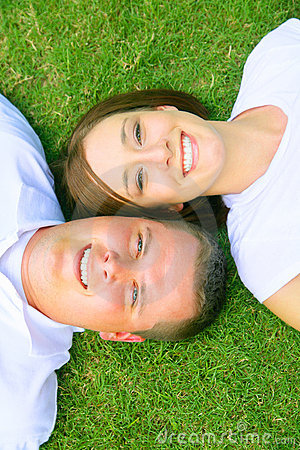 Happy Couple Looking To Top