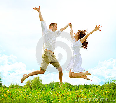 Free Happy Couple Outdoor Royalty Free Stock Photography - 30938357