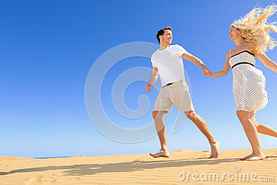 Happy couple in playful and romantic relationship