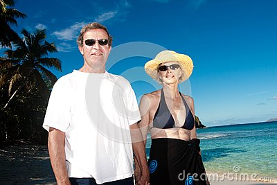 Happy couple on vacation