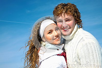 Happy Couple in wintertime