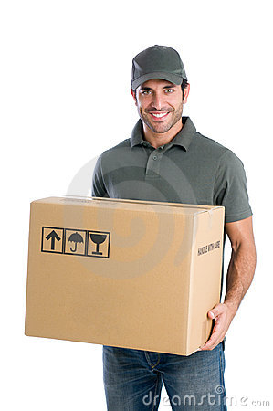 Free Happy Courier Royalty Free Stock Photos - 22438578