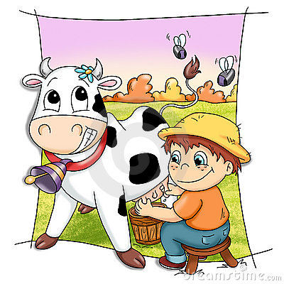 Free Happy Cow Royalty Free Stock Images - 14116229