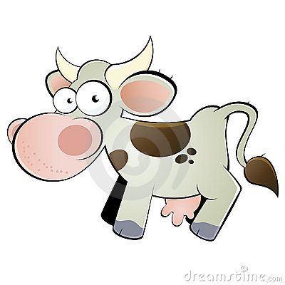 Happy cow cartoon