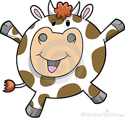 Happy Cow Vector Illustration
