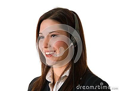 Happy customer service agent