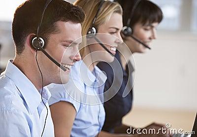 Happy Customer Service Reps