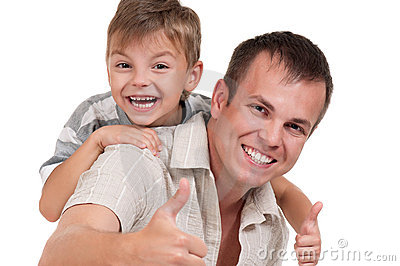 Happy Dad And Son Royalty Free Stock Photos - Image: 21952338