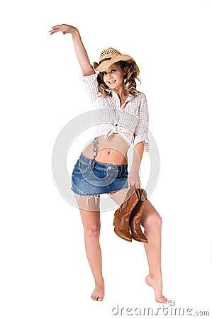 Happy Dancing Cowgirl