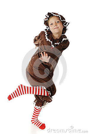 Happy, Dancing Gingerbread Girl