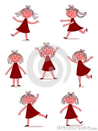 Happy, dancing girl