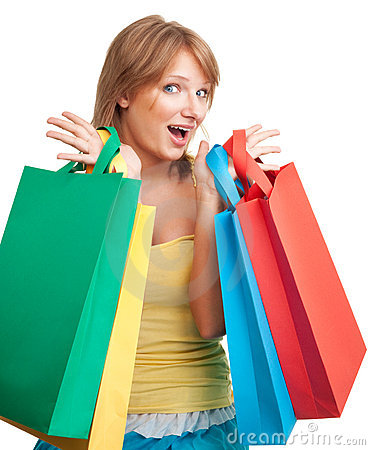 Happy day for shopping