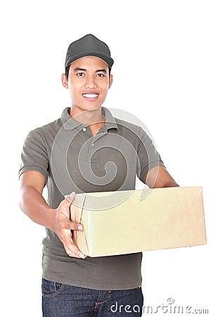 Free Happy Delivery Man Stock Photos - 47547663