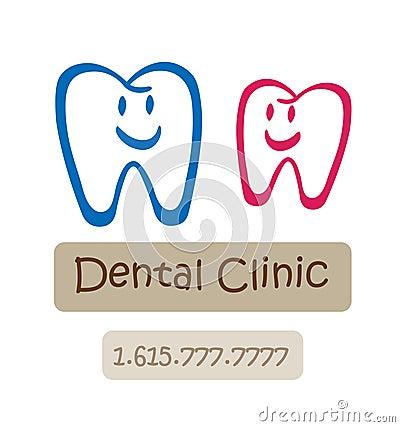 Free Happy Dental Clinic Logo Royalty Free Stock Photos - 10455808
