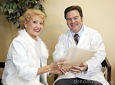Happy Doctor With Patient