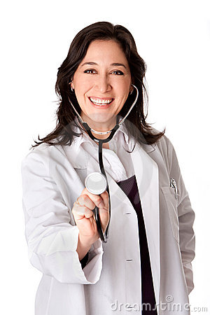Happy doctor with Stethoscope