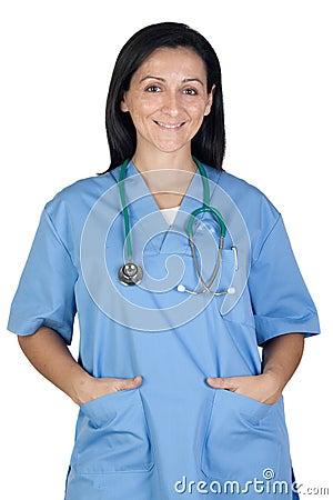 Happy doctor woman