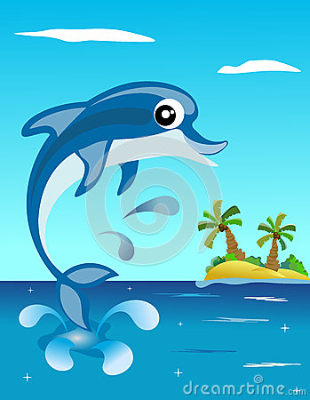 Happy Dolphin Jumping