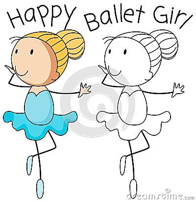 Free Happy Doodle Girl Dance Stock Photos - 130368473