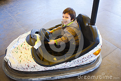 Happy driving bumper car