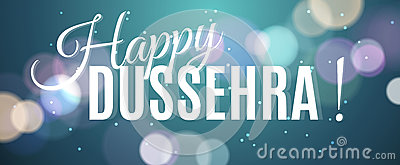 Happy Dussehra background, hanging banner for festival Vector Illustration