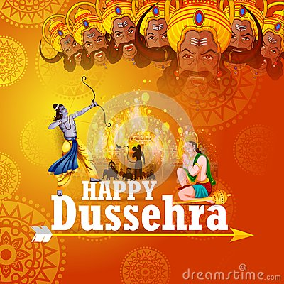 Free Happy Dussehra Background Showing Festival Of India Stock Photos - 100266013