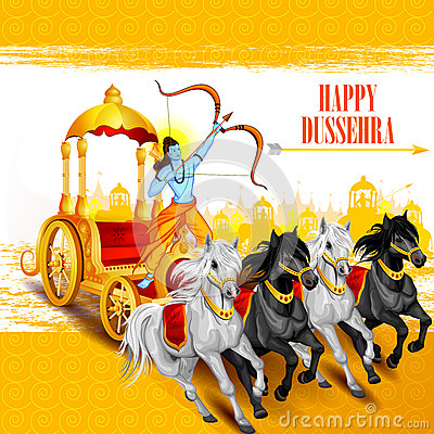 Free Happy Dussehra Background Showing Festival Of India Royalty Free Stock Photography - 77671117