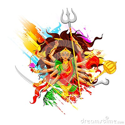 Happy Dussehra With Goddess Durga Stock Photo  Image: 34056110