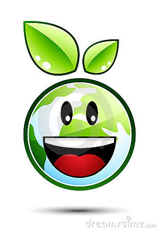 Happy Earth Character